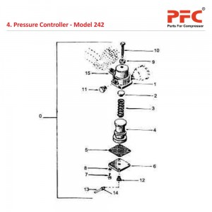 Pressure Controller IR 242 Air Compressor Parts