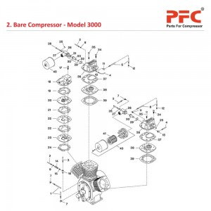 Bare Compressor IR 3000 Air Compressor Parts