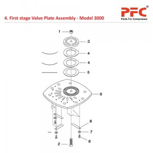 First Stage Valve Plate IR 3000 Compressor Parts