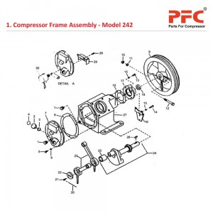Compressor Frame IR 242 Air Compressor Parts