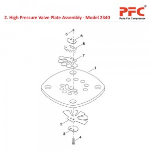 High Pressure Valve Plate Assembly for 2340
