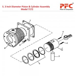 "3"" Piston & Cylinder IR 71T2 Air Compressor Parts"