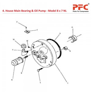 House Main Bearing & Oil Pump For 8 x 7 NL