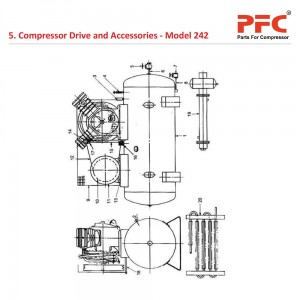 Compressor Drive and Accessories IR 242 Parts