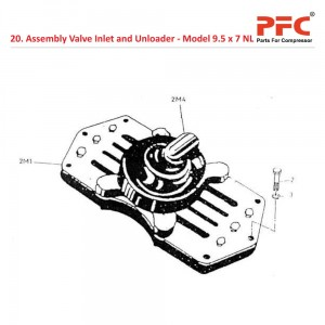 Assembly Valve Inlet and Unloader For 9 1/2 x 7 NL